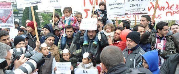 Να συνεχίσουν το «ταξίδι» τους  ζητούν οι πρόσφυγες