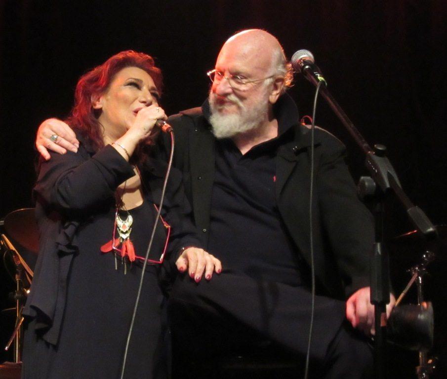 Ο Διονύσης Σαββόπουλος και η Ελένη Βιτάλη, στο Κύτταρο (φωτό Στ. Ελλ.)