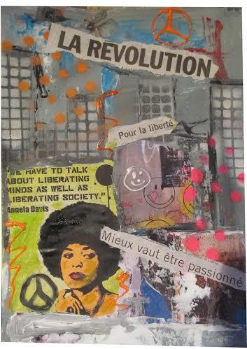 """Ένα κολάζ με λέξεις - κλειδιά: """"Η Επανάσταση"""", """"Για την Ελευθερία"""", """"Καλύτερα να έχεις πάθος"""""""