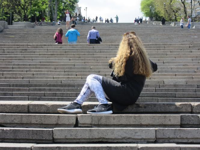 Η Σκάλα του Ποτέμκιν στην Οδησσό, η πιο διάσημη (χάρη στην επανάσταση του '17 και τον μεγαλοφυή Αϊζενστάιν) του κόσμου… (φωτό Στ. Ελληνιάδη)