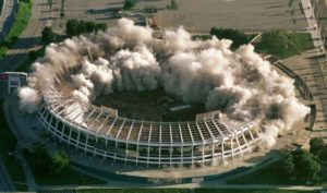 Atlanta hosted the Summer Olympics in 1996. The Atlanta-Fulton County Stadium was used for baseball, but was demolished in 1997. The space was turned into 4,000 parking spaces. (REUTERS Photography)