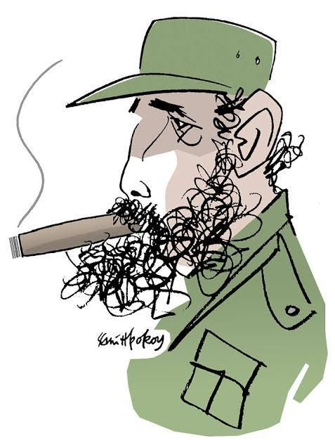 Φιντέλ Κάστρο, σκίτσο του Σεμίχ Πορόι