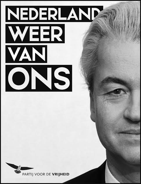 «Η Ολλανδία πάλι δική μας» είναι το σύνθημα του ακροδεξιού κόμματος PVV του Βίλντερς. Κι όταν γράφουμε «του Βίλντερς», κυριολεκτούμε: το κόμμα έχει επισήμως μονάχα ένα μέλος, τον ίδιο! Όλοι οι υπόλοιποι, από τους βουλευτές μέχρι τους… αφισοκολλητές, είναι «υποστηρικτές». Μάλλον παγκόσμια πρωτοτυπία, που όμως απαλλάσσει τον ηγέτη από εσωκομματικές ταλαιπωρίες. Θα ζηλέψουν πολλοί…